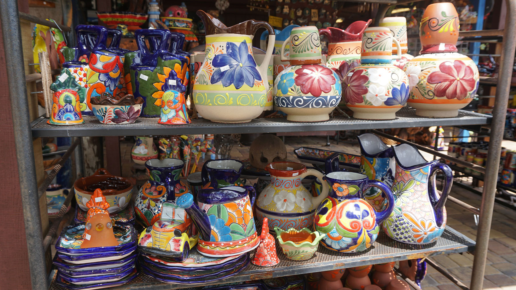 Talavera Pitchers and Table Figurines