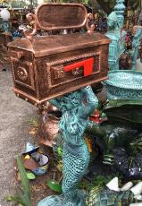 Recycled Aluminum Mermaid Mailbox